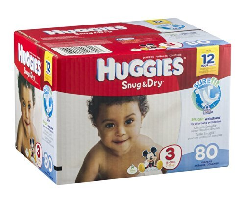 Huggies Diapers Snug & Dry Disney Size 3 (16 - 28 lb) - 1