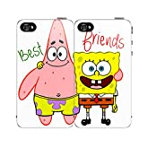 $10.00 $$$ Off Until the New Year Best Friends Set Spongebob & Patrick for Iphone 4 4s Case Hard Back Case Cover Holidays Sale!!!!