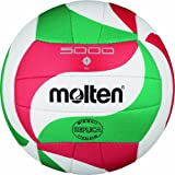Molten V1M300 Ballon de volley-ball Blanc/vert/rouge Ø 15