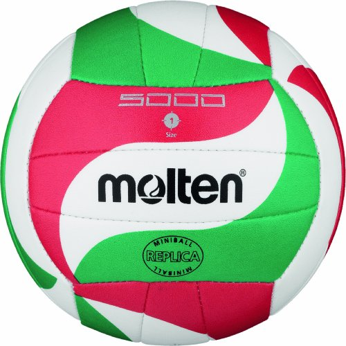 Molten Volleyball V1M300, Weiß/Grün/Rot, Ø 15 cm