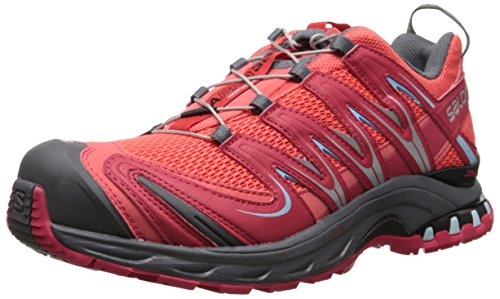 Salomon - Xa Pro 3D, Scarpe Da Trail Running da donna, Rosso (Rot (Papaya-B/Lotus Pink/Air)), 38