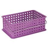 InterDesign Spa Basket, Medium, Purple