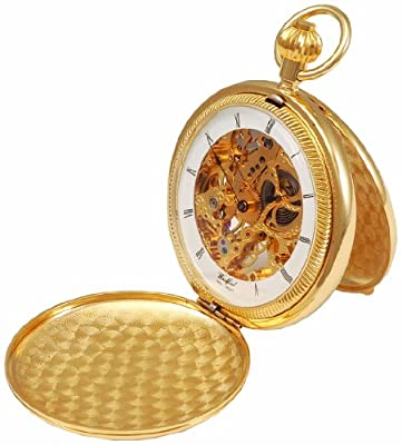 Woodford Pocket Watch 1022 Gold Plated Twin Lid