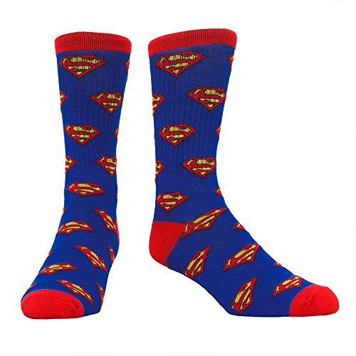 Superman Shields Toss Print Men's Athletic Socks