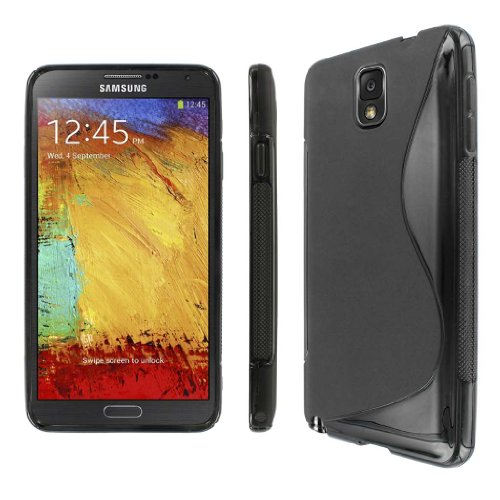 Mpero Collection Flexible S-Shape Black Case For Samsung Galaxy Note 3