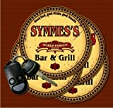 SYMMES' Family Name Bar & Grill Coasters