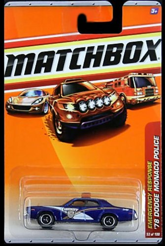 Matchbox Detailed Diecast Classic Emergency Response Series '78 Dodge Monaco Police #53 1:64 Scale
