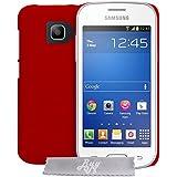 Coque rigide EXTRA FINE Rouge Samsung Galaxy Core 4G LTE SM-G386F + STYLET et 3 FILMS OFFERT !!