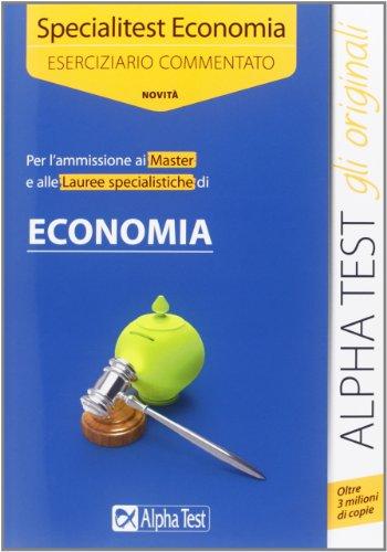 Specialitest economia Eserciziario commentato PDF