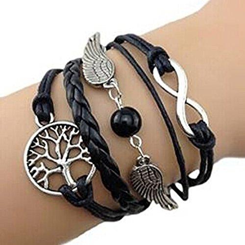 Doinshop Handmade DIY Charm Adjustable Bracelet Multilayer Bracelet Wristband Cuff Jewelry
