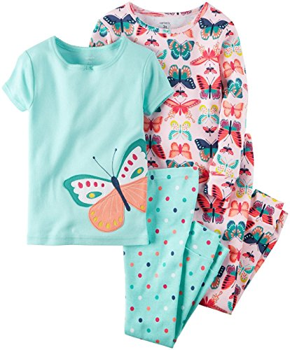 Carter's Girls 4 Pc Cotton, Print, 10
