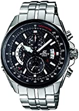Casio EFR-501SP-1AVEF Edifice Men's Quartz Watch with Black Dial Analogue Display and Silver Stainless Steel Bracelet