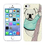 Head Case Designs Koala Wild Fashioners Soft Gel Back Case Cover for Apple iPhone 5 5s
