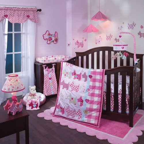 Lambs & Ivy Crib Bedding Set, Puppy Tales, 4 Piece