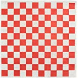 "Chefocity - 100 Sheets 12X12"" - Red and White Checkered Paper Food Basket Liner & Sandwich Wrap"
