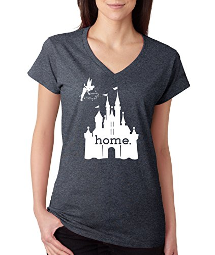 Disgear women 39 s disney is my home v neck t shirt x large for Oversized disney t shirts