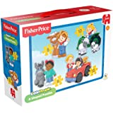 Fisher Price LittlePeople 4-in-1 Shaped Jigsaw Puzzles