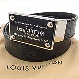 (ルイ・ヴィトン)LOUIS VUITTON ベルトサンチュール アンヴァントゥール 最大105サイズ ダミエグラフィット グレー 中古