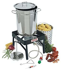 Bayou Classic 9195 32-Quart Stainless-Steel Outdoor Turkey Fryer Kit with Burner (Discontinued by Manufacturer)
