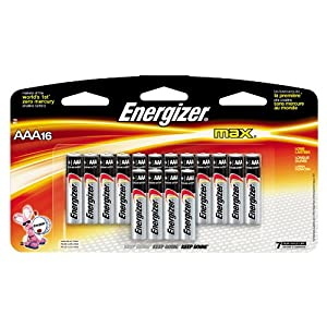 Energizer MAX AAA Alkaline Batteries 16 Pack NEW