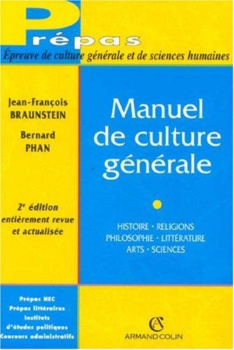 Culture générale histoire pdf