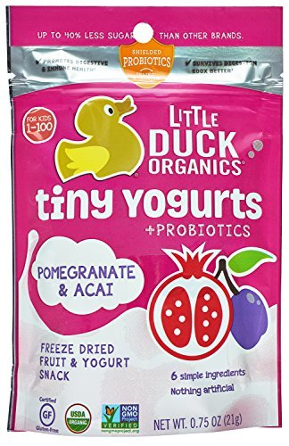 Little Duck Organics Tiny Freeze Dried Fruit + Yogurt Snack Pomegranate/Acai, 6 Count by Little Duck Organics (Acai Yogurt compare prices)