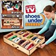 CostMad Shoe Underbed Under Bed Shoes Storage Space Saving Shoe Organizer Bag Box that Holds 12 pairs of Shoes