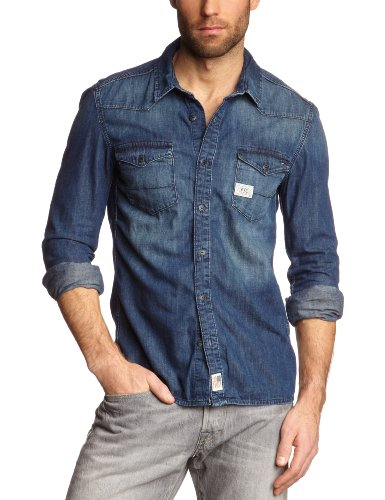 Hilfiger Denim Men's Gratton Shirt Blfdk / 1957819314 Casual Shirt Blue (612 Belfry Dark) 54