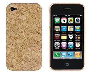 Hard Wood Case for Apple iPhone 4/4S - AT&T, Verizon, Sprint - Cork