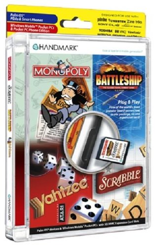 Handmark Monopoly/Scrabble/Battleship/Yahtzee Game Pack on SD/MMC Card