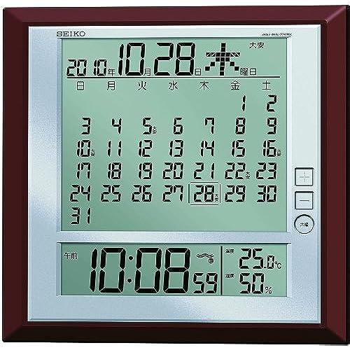 SEIKO 디지털 벽 탁상 시계 기념일 온도 습도 표시 SQ421B