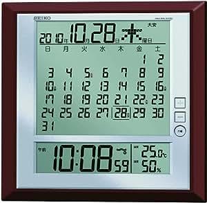 SEIKO CLOCK (セイコークロック) 掛時計 置時計 兼用 マンスリーカレンダー機能 六曜表示 デジタル 電波時計 SQ421B