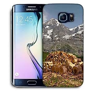 Snoogg Wood Cut Printed Protective Phone Back Case Cover For Samsung Galaxy S6 EDGE / S IIIIII