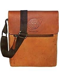 Style98 100% Hunter Leather Handmade Stitched Unisex Messenger Bag||Sling Bag||Shoulder Bag||Hard Disk Bag||Tablet... - B0722X4PNT