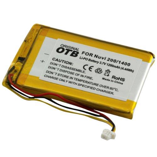 Akku, Ersatzakku mit 1200mAh !!! für Garmin Nüvi 200 / 200w / 250 / 252w / 260 / 270 / 465 / 465T / 780 / 780T / 785 / 785T / 1400 / 1440 / 1450 / 1490 / 1490T ohne Memory-Effekt Li-Polymer PDA-Punkt