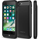 iPhone 7 Battery Case, Press Play (Apple MFi Certified) [Nero7] 120% Extra Charging Power Extended Portable Slim Protective Charger Case - Black