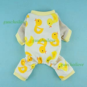 Fitwarm® Cute Duck Dog Pajamas Dog Clothes Dog Jumpsuit Pet Cat Pjs