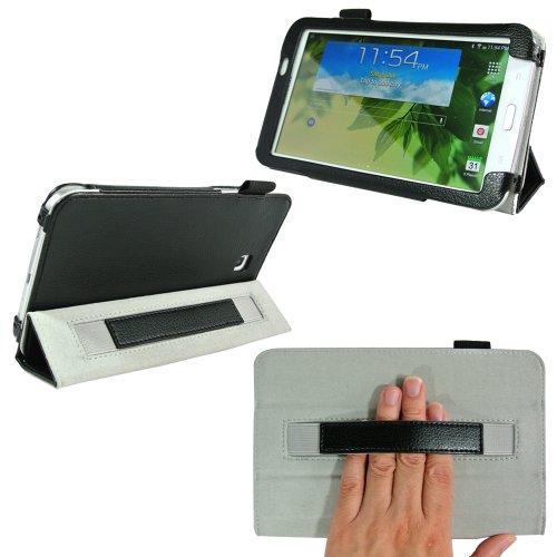 Procase Samsung Galaxy Tab 3 7.0 Protective Case - Tri-Fold Folio Cover For Samsung Galaxy Tab 3 7.0 Tablet Wifi 3G 4G Lte Sm-T210R Sm-T2100 P3200 (Black)