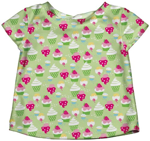 I Play Baby Girls' Rashguard (Baby) - Lime - Small (6 Months) front-998493