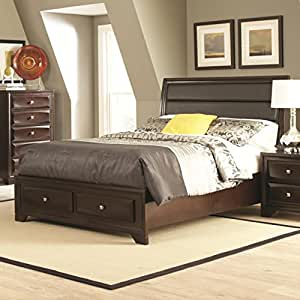 Amazon Jaxson Queen Size Bed with Storage Footboard