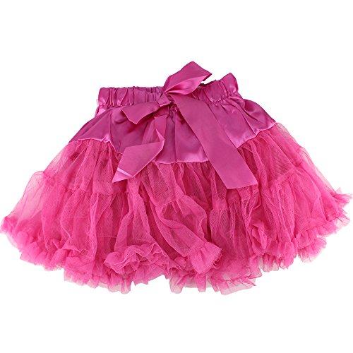 Baby Kids Girls Dancewear Chiffon Tutu Full Pettiskirt Princess Skirt Classic Triple 1-8y (4-5 years, rose (Best Homemade Costume Halloween)