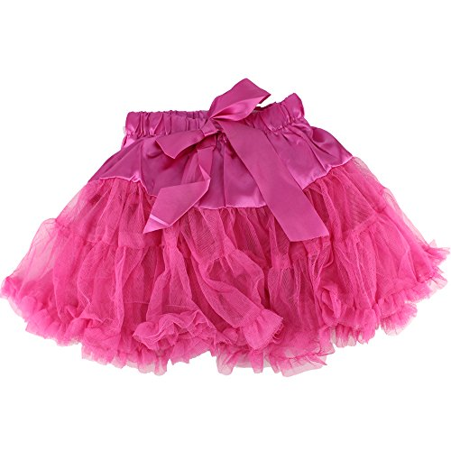 Baby Kids Girls Dancewear Chiffon Tutu Full Pettiskirt Princess Skirt Classic Triple 1-8y (4-5 years, rose (Homemade Infant Princess Costume)