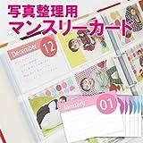 写真整理用マンスリーカード イヤーアルバム用の月別・イベント行事別カード コメント書き込みOKの育児カードです 大容量リング式ポケットアルバム専用です