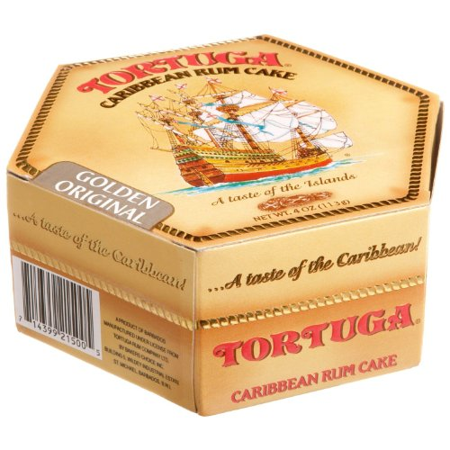 Tortuga Caribbean Golden Original Rum Cake, 4-ounce Box