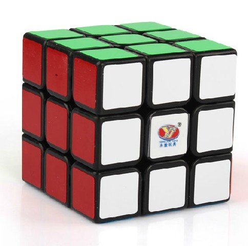 New Yj Moyu Chilong 3x3x3 Speed Cube Puzzle Smooth 3x3 Black - 1