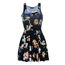 Aoibox Women's Galaxy Digital Print Sleeveless Vintage Clubwear from Aoibox