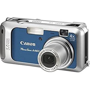 PowerShot A460 5.0 MP 4X Optical Zoom Digital Camera (Blue/Silver)