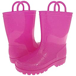 Capelli New York Girls Pink Glitter Rain Boot Pink 12/13