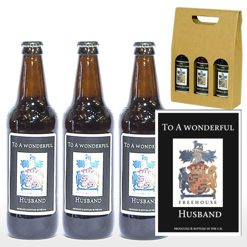 PERSONALISED 'To A Wonderful Husband' 3 x Yorkshire Ales 500ml in a Gift Box