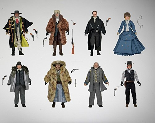 """Hateful Eight Movie 8"""" Clothed Figures Set of 8 The Bounty Hunter"""